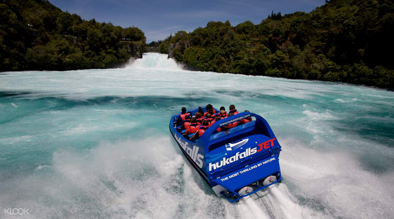 Huka Falls Jet Boat Ride beautiful scenery